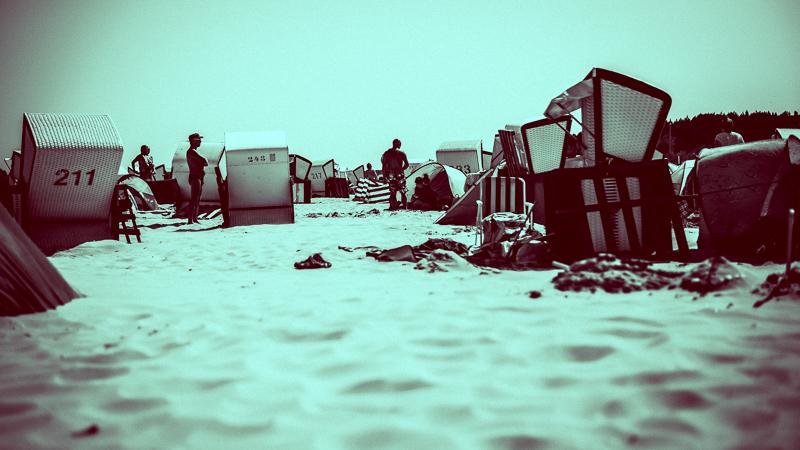 At the beach in Karlshagen